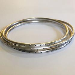 Dot dot bangle #bangle #silver #Jewellery #handmade