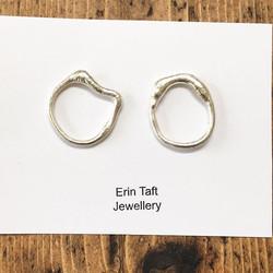 Extra large gnarled studs #silversmith #jewellerymaker #handmade #earrings