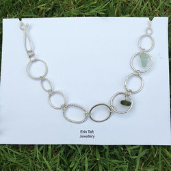 Half gnarled link necklace with sea