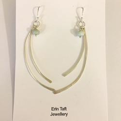 Ammonite bead earrings #silversmith #earrings #handmade #jewellerymaker
