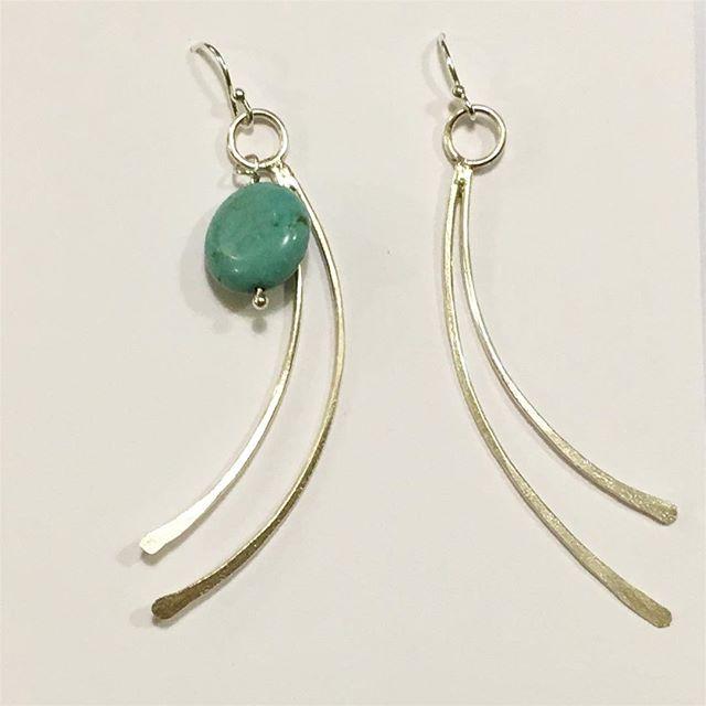 Turquoise stone #jewellerymaker #silversmith #handmade