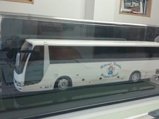 ヒトミ観光バス ミニチュア模型