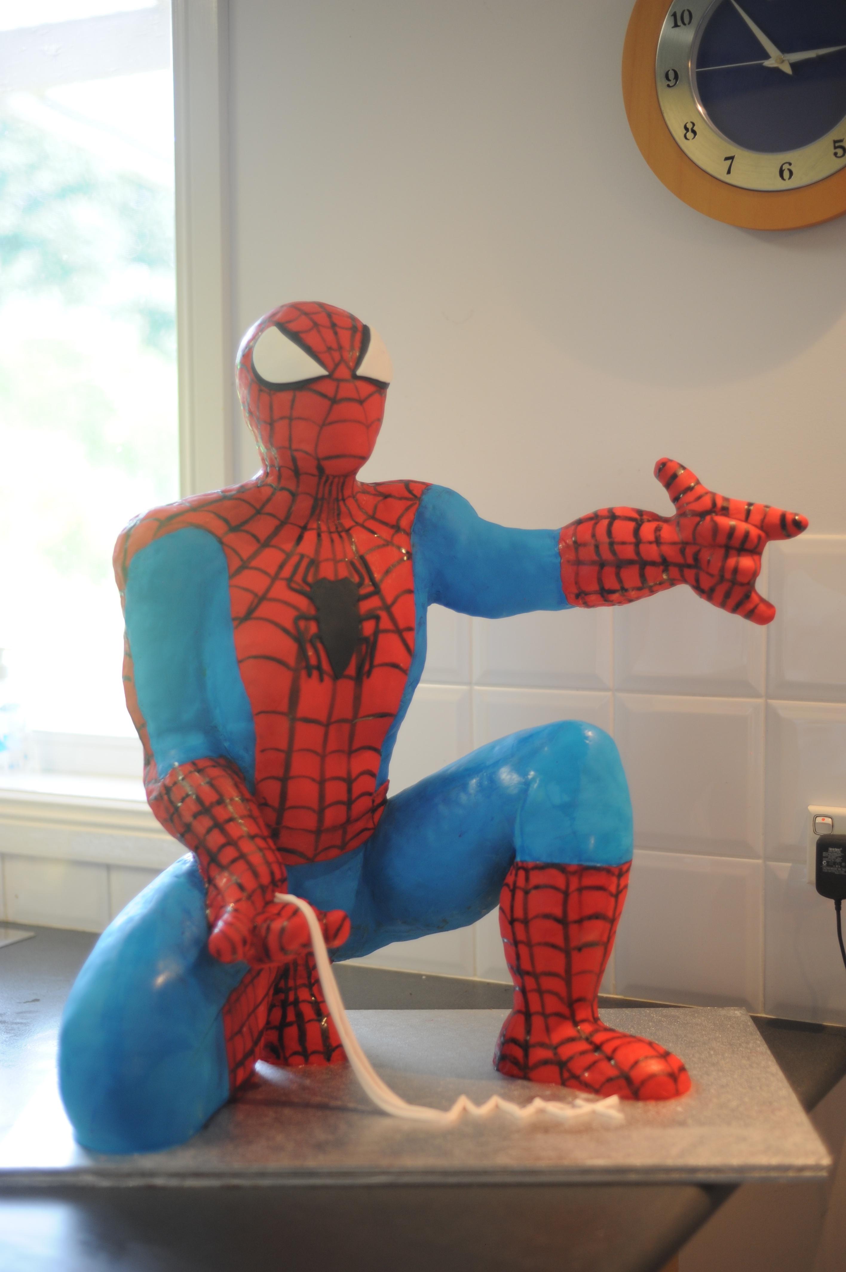 Spiderman cake pan wilton