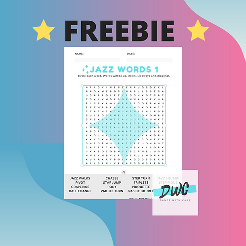 "FREEBIE Jazz Crossword Puzzle - Enter code ""JAZZ"" at checkout"