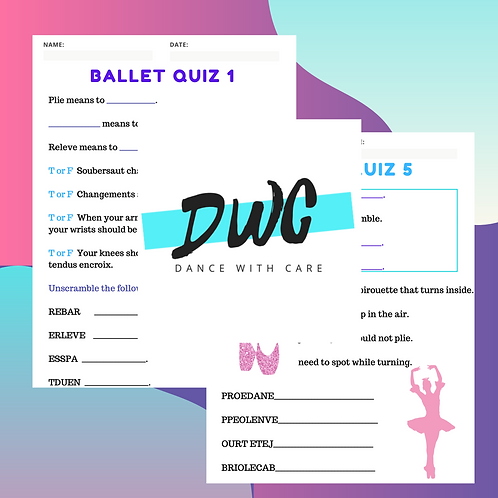 Intermediate Ballet Quiz Pack - 5 Quiz & 5 Answer Sheets