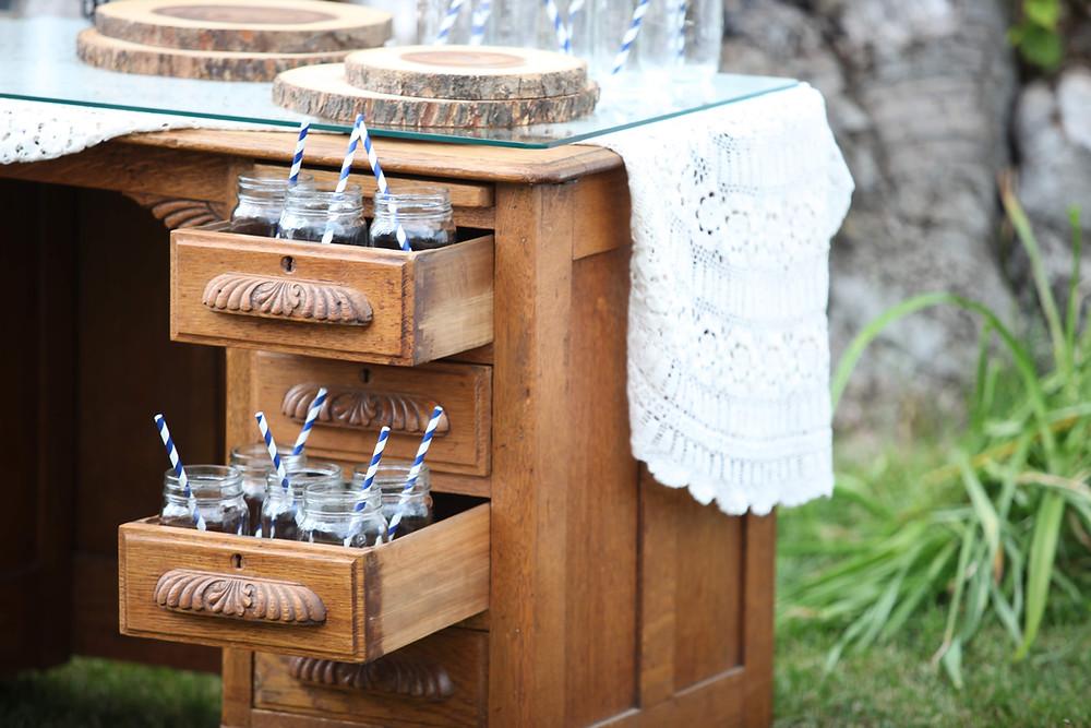 Writing Desk, Serving, Wedding, Outdoor, Drinks, Bar, Colorado