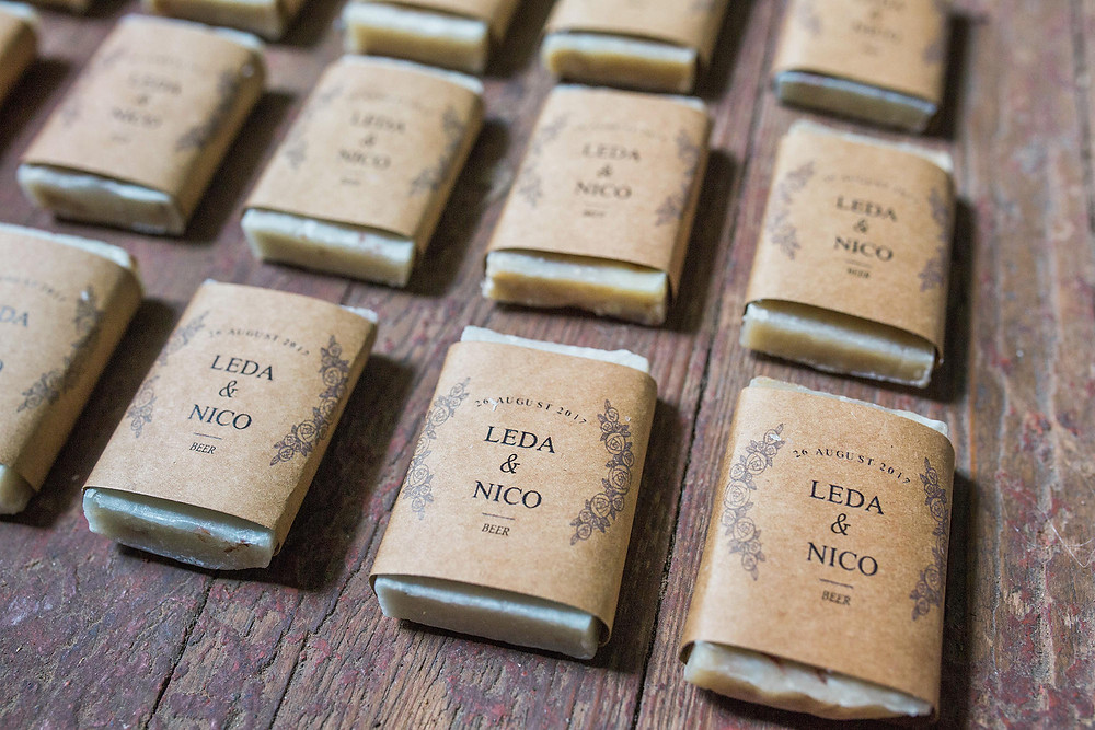 Custom Wedding soap favors
