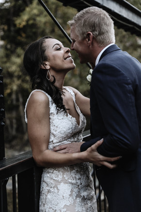 Wedding Silverthorne Pavilion Bridge Bride Groom