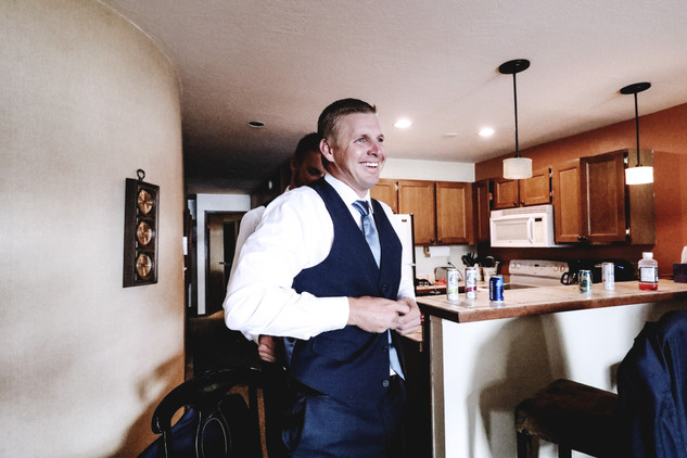 Groom Getting Ready Dillon Colorado