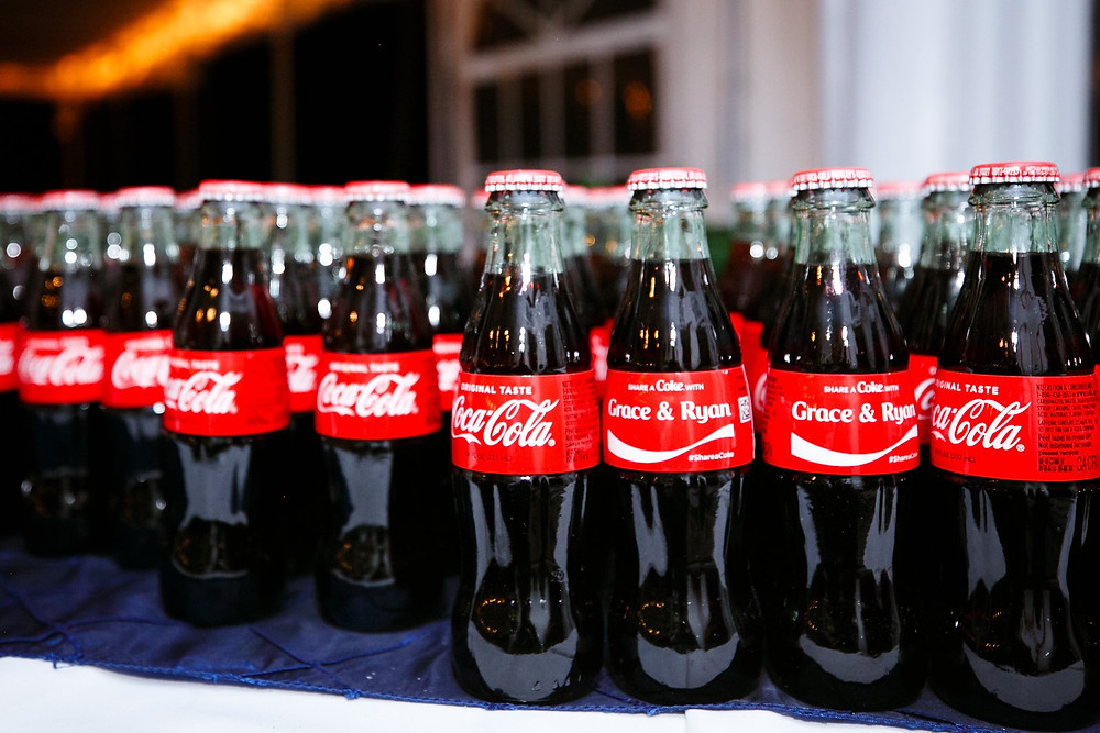 Personalized Coca-cola bottles for wedding