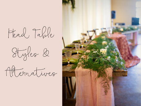 Head Table Styles and Alternatives