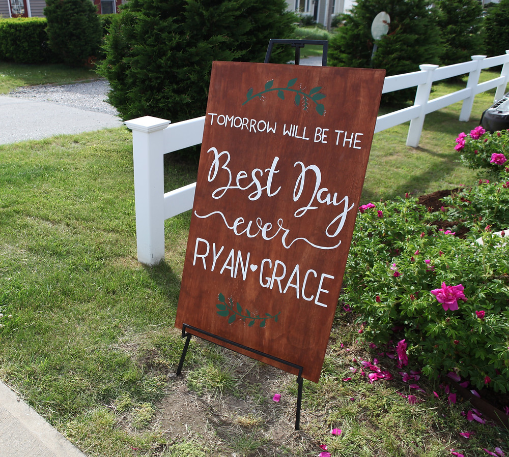 Signage, Wedding, Best Day Ever, Colorado Wedding Planner, Rehearsal Dinner