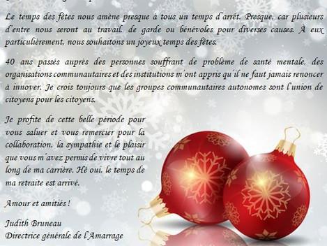 Nos meilleurs vœux pour les fêtes!