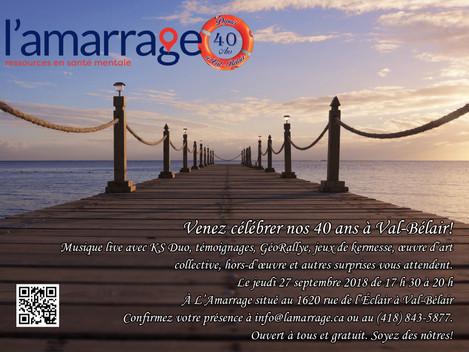 Célébration du 40e anniversaire de l'Amarrage à Val-Bélair