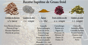 Ma recette Suprême de Gruau froid