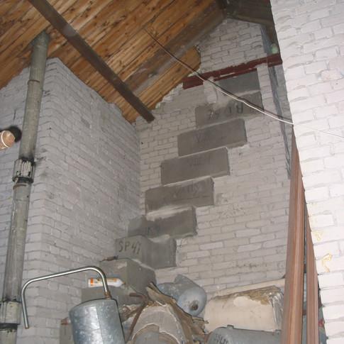 From attic corner to bathroom
