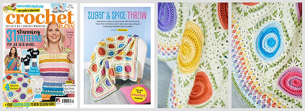 Sugar & Spice Throw in Crochet Now issue 38