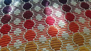 Closeup of 'Bubbles' Overlay Mosaic blanket