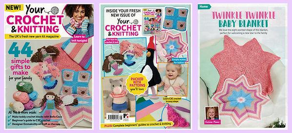 Twinkle Twinkle baby blanket in Your Crochet & Knitting issue 8