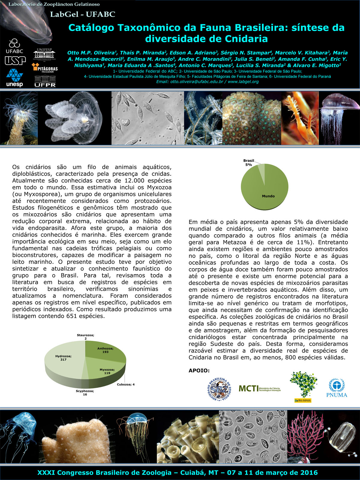 XXXI Brazilian Congress of Zoology