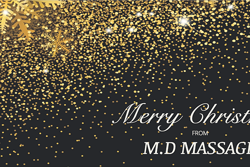 M.D Massage Christmas Voucher