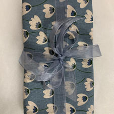 Teal Flower Tea Towels