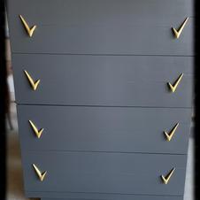 Refinished Dresser with Original Hardware