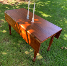 Refinished Cherry Wood Dining Table