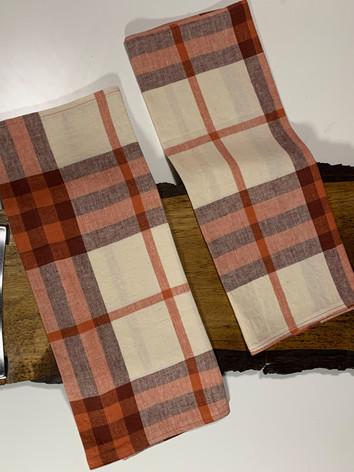 Plaid tea towels