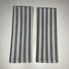 Essex Linen Tea Towel in Soft Blue Stripe