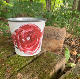 """Tin Flower Pot - 15"""""""
