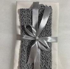 Grey and Cream Tea Towels and Wash Cloth