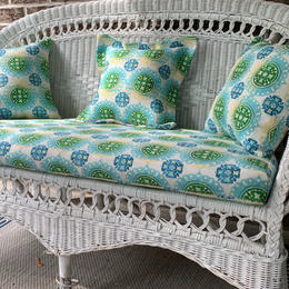 Green and Aqua Custum Outdoor Cushions