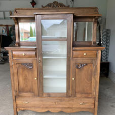 Antique Refinished China Cabinet