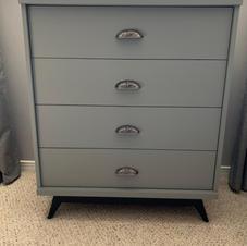 Refinished Soft Grey Dresser