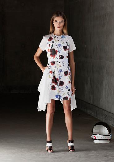 FLORAL SANGALLO DRESS