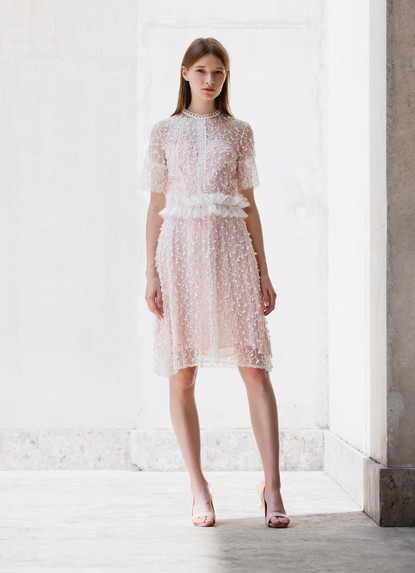 FRINGE EMBROIDERY DRESS