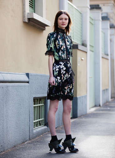 CAMO FLOWER PRINT DRESS