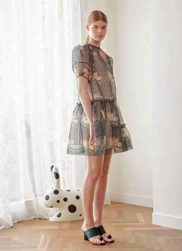 PRINT ORGANZA DRESS