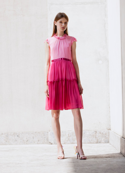 ROSE CHIFFON DEGRADE' DRESS