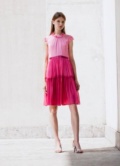 ROSE CHIFFON DEGRADE' DRESS