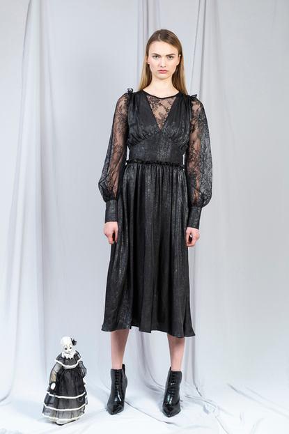 SILKY CHAMPAIGN DRESS