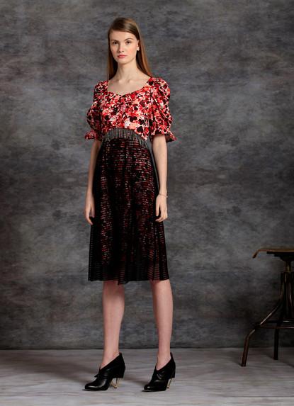 SOPHIE PRINT  PLISSE' DRESS