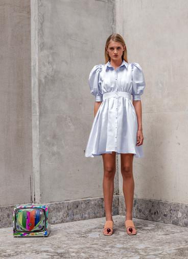 INTRIGO VISCOSE SHIRT DRESS