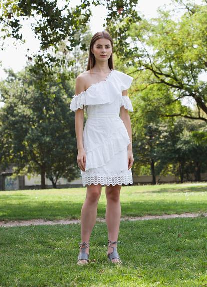 WAVE SANGALLO ASYMMETRIC DRESS