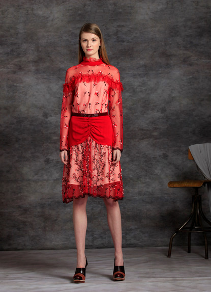 LOVE ME NOT EMBRIODERY DRESS