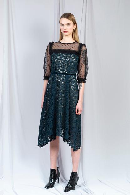 ROSE VELVET LACE DRESS