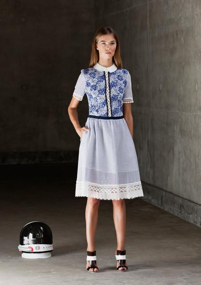 FLORAL NET DRESS