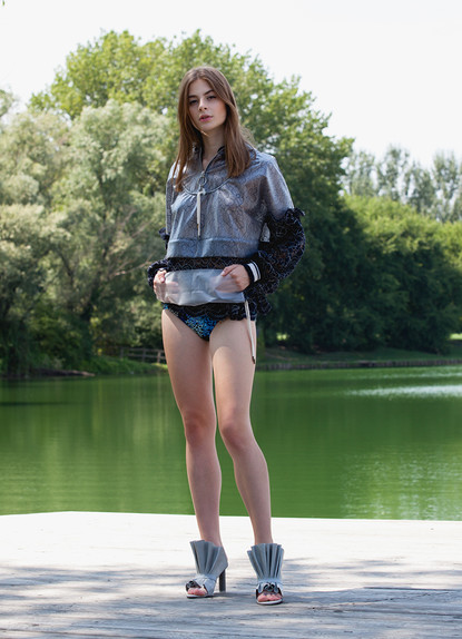 PU LACE RAIN FOREST SUMMER JACKET