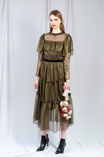 GOLD TULLE DRESS